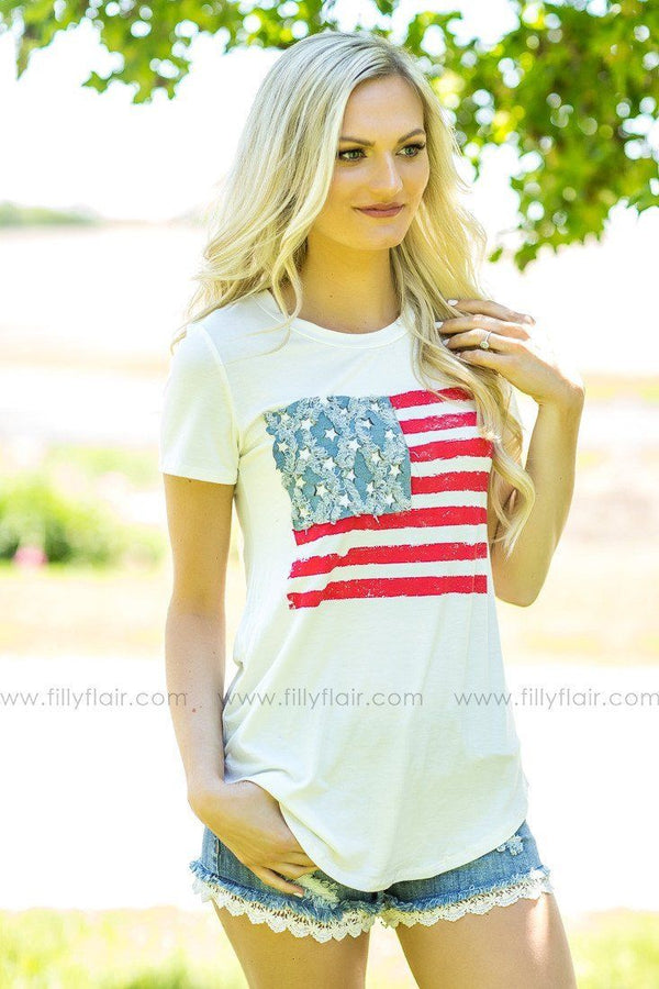 All American Flag Tee