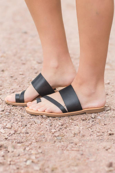 Strappy Queen Sandal In Black - Filly Flair