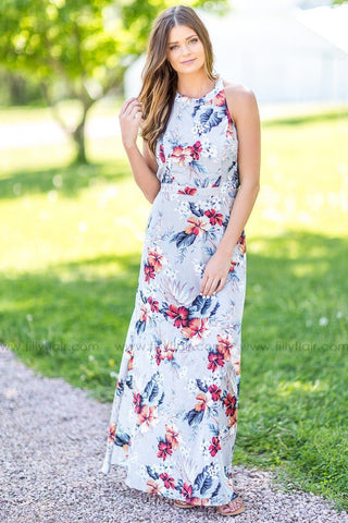 One Sided Story Floral Dress in Yellow