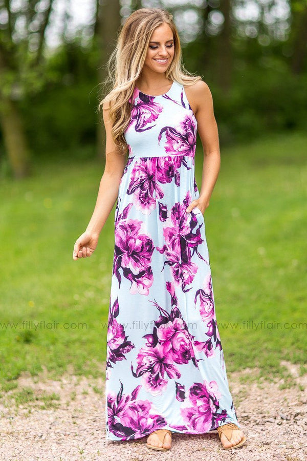 Make You Smile Floral Print Maxi Dress