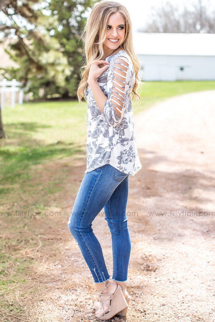Spring Forward Top with Cold Shoulder Sleeves