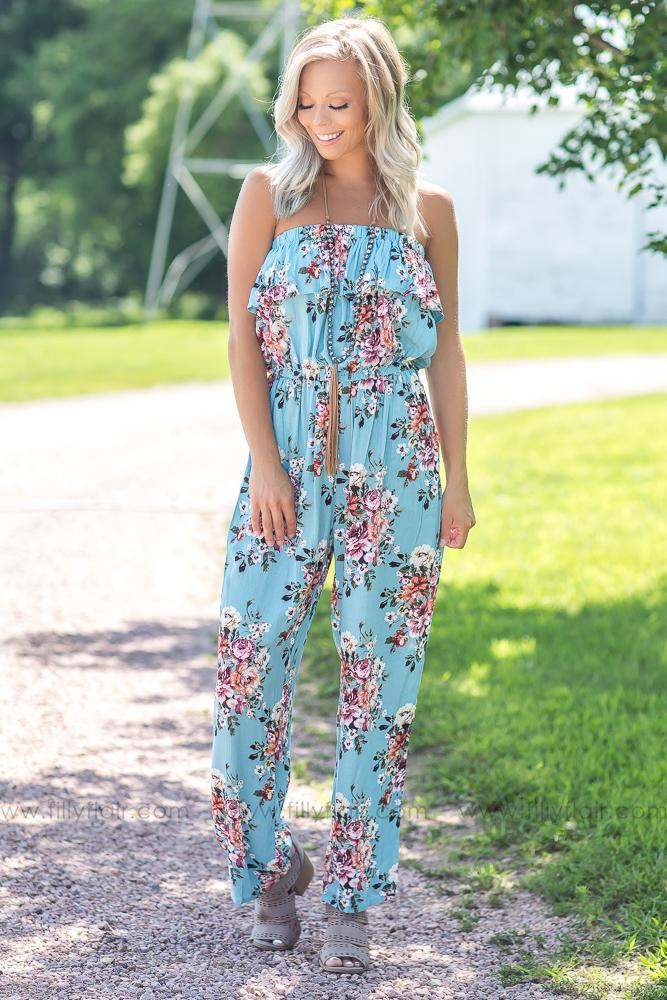 The Perfect Style Jumpsuit in Blue - Filly Flair