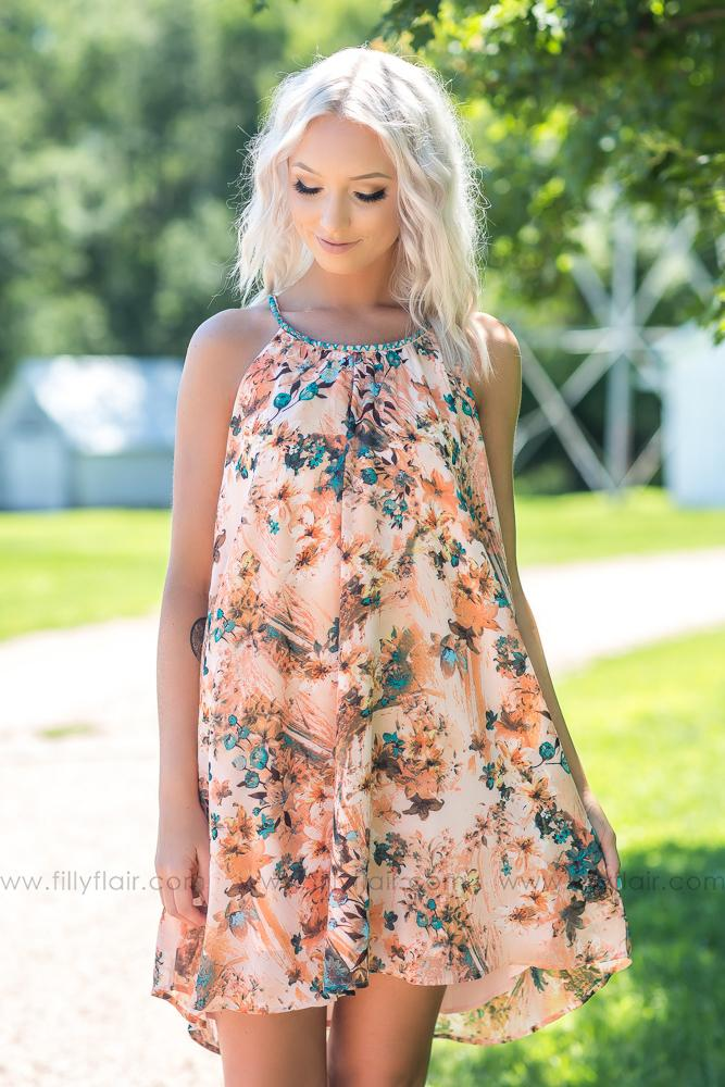 Natural Every Day Beauty Floral Printed Dress - Filly Flair