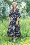 Something About Her Floral Wrap Dress in Black - Filly Flair