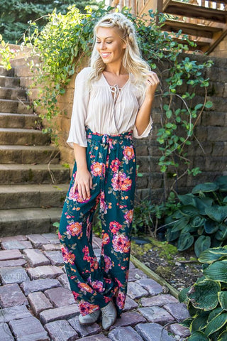 Take My Hand Floral Top In Mustard
