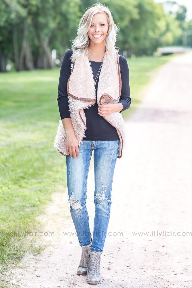 Double the Fun Faux Fur Reversible Vest - Filly Flair
