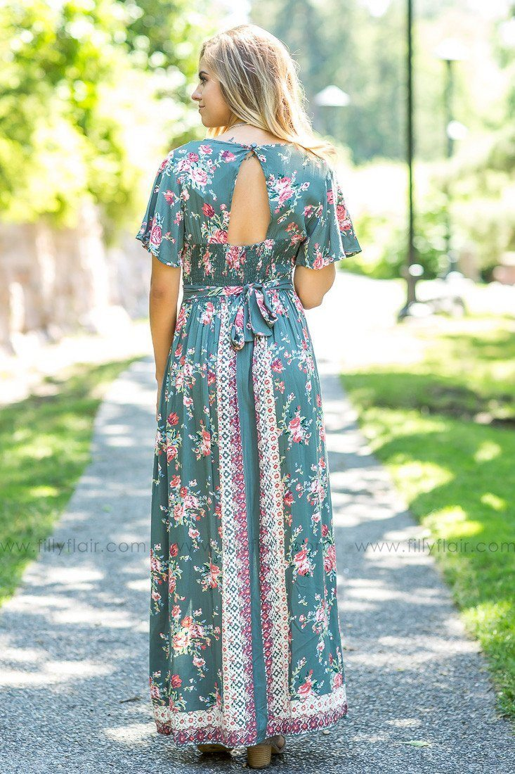 Long Road Home Maxi Romper in Olive