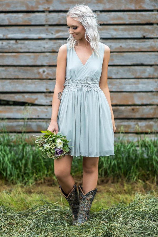 Savannah Bridesmaid Dress In Grey - Filly Flair