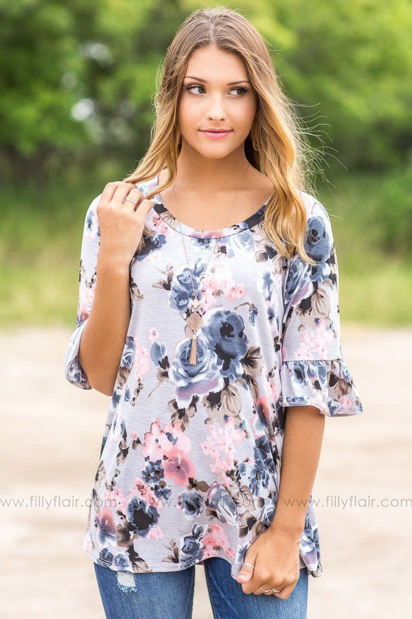 trendy floral tops