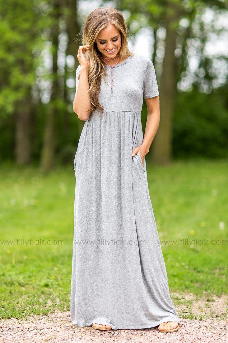 Just Like This Maxi Dress in Grey