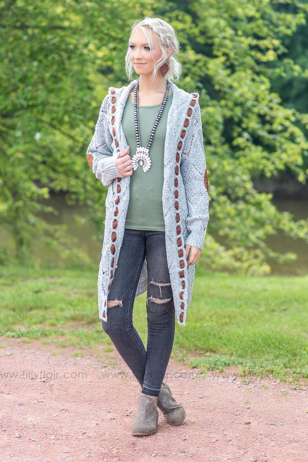 Sunday Afternoon Grey Hooded Cardigan