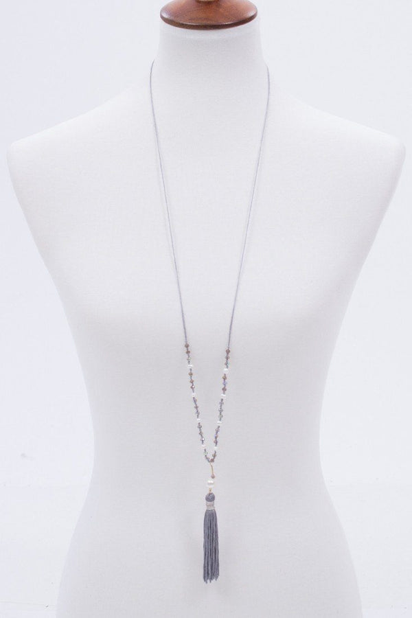 More To Love Beaded Tassel Necklace