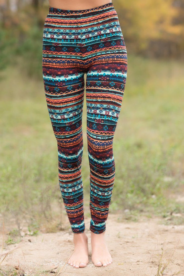 tribal printed leggings