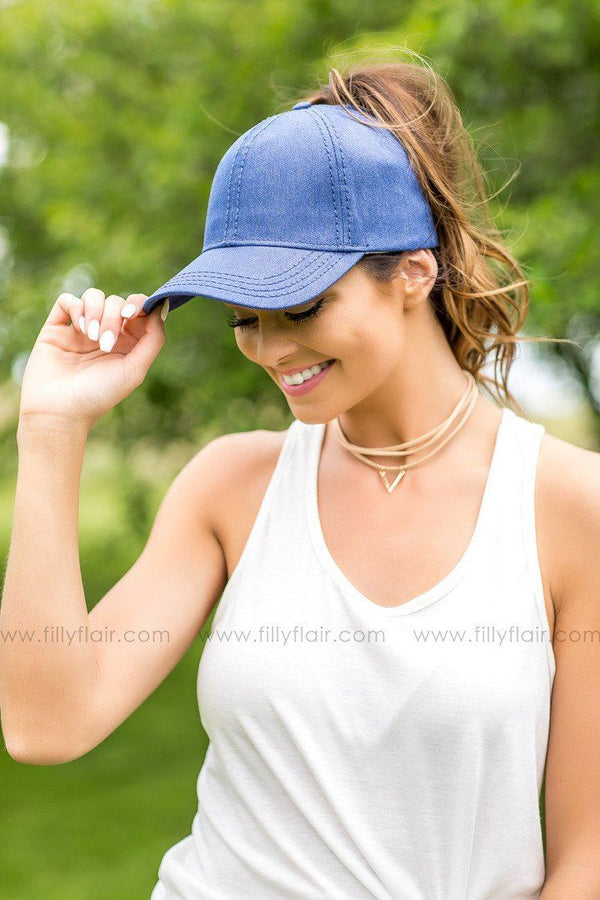 CC Denim Blue High Pony Baseball cap