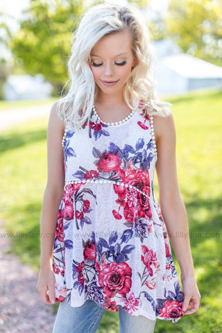 Springtime Garden Floral Print Wrap Dress