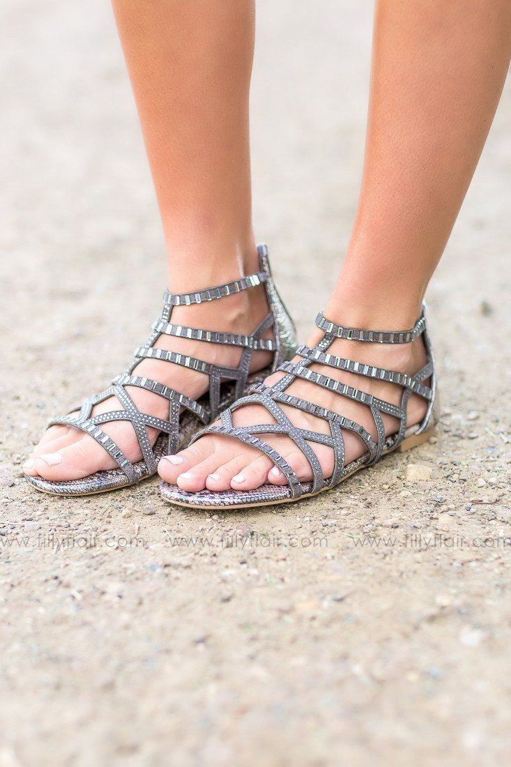 Not Rated Looking Good Sandals in Grey