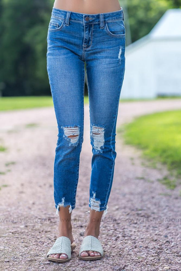 For Every Season Slight Distressed Skinny Jeans - Filly Flair