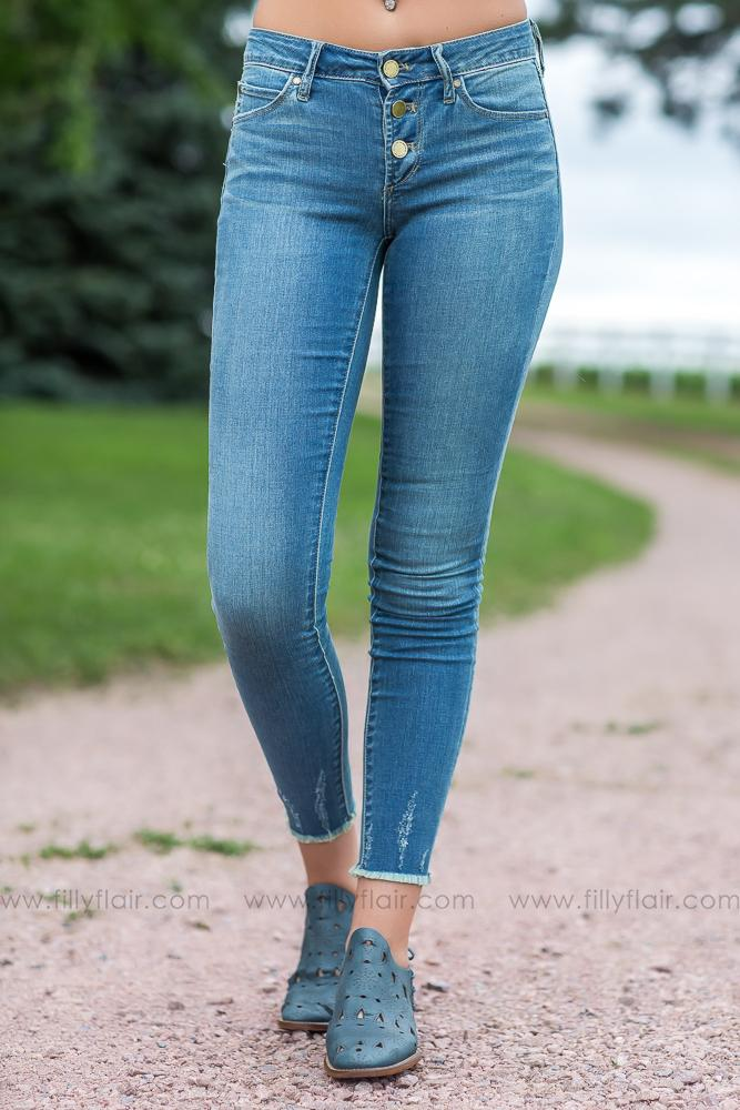 Articles of Society Britney Cut Off Hem Jeans - Filly Flair