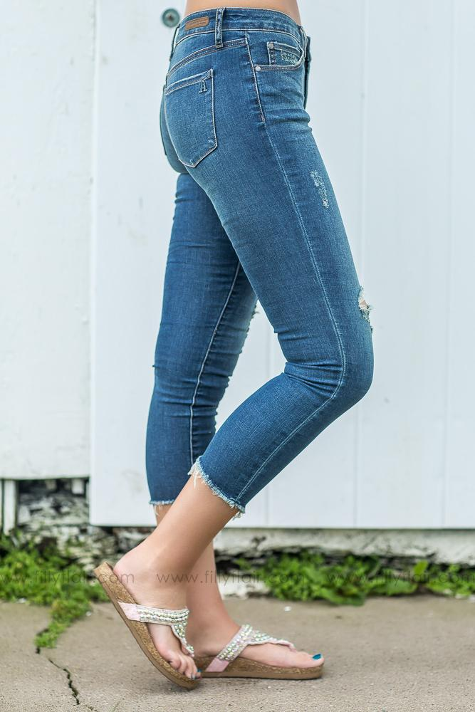 Articles of Society Suzy Step Hem Cut Off Ankle Jeans - Filly Flair