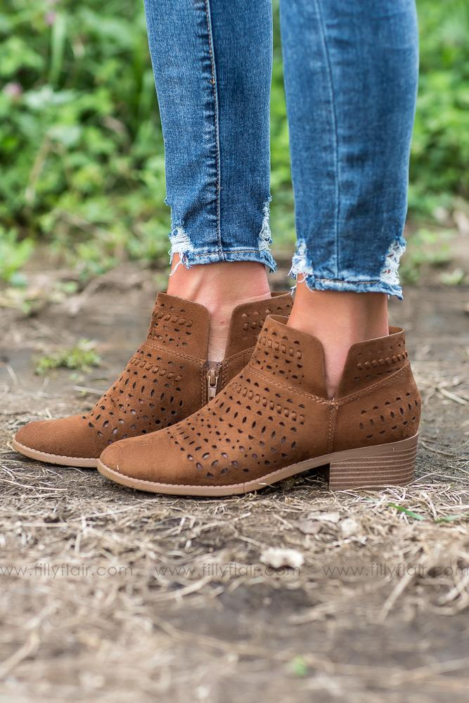Way Back Home Cutout Booties - Filly Flair