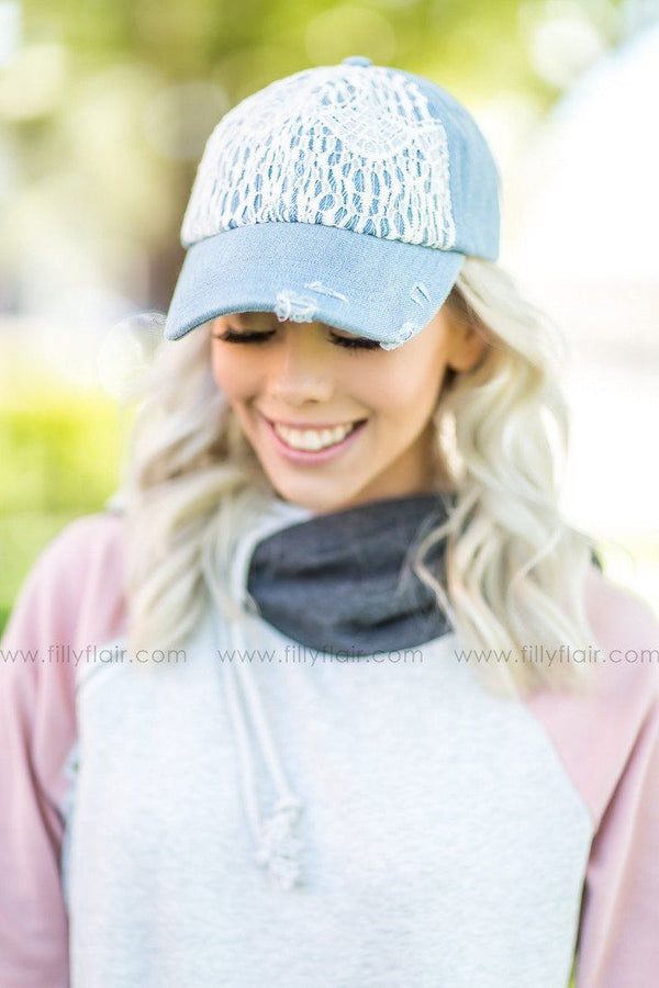 Lace Baseball Hat