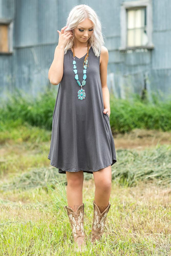 Calling You Mine Sleeveless VNeck Dress - Filly Flair