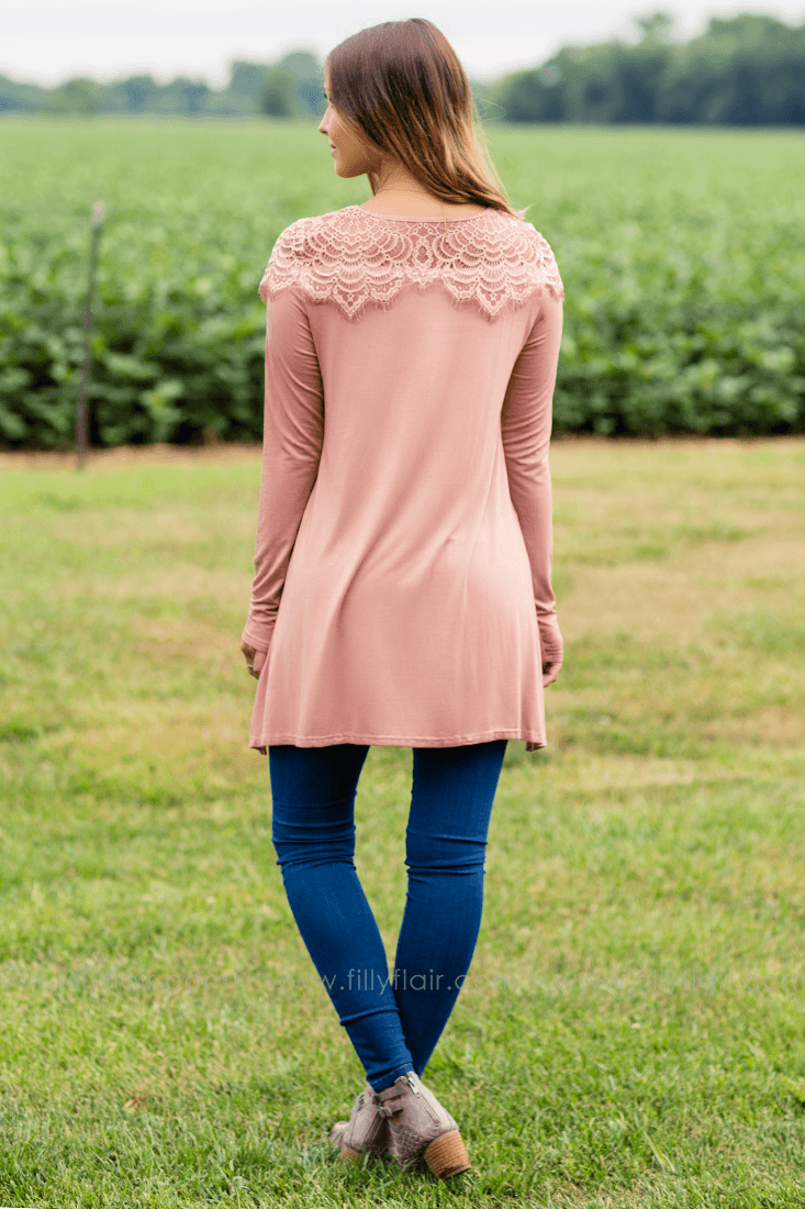dusty rose tops