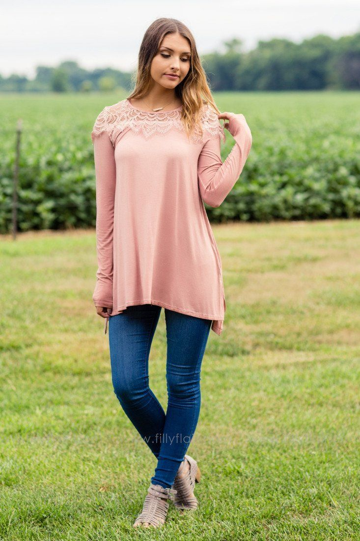 mauve colored tops