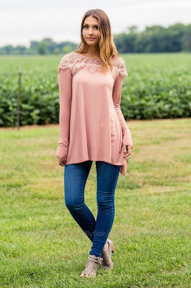 tops with lace