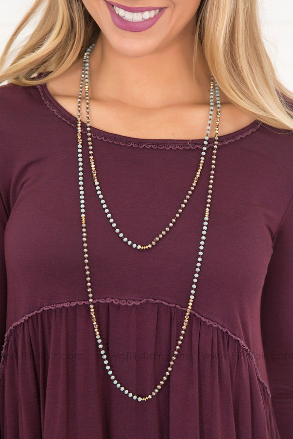 Eternity Beaded Long Wrap Necklace