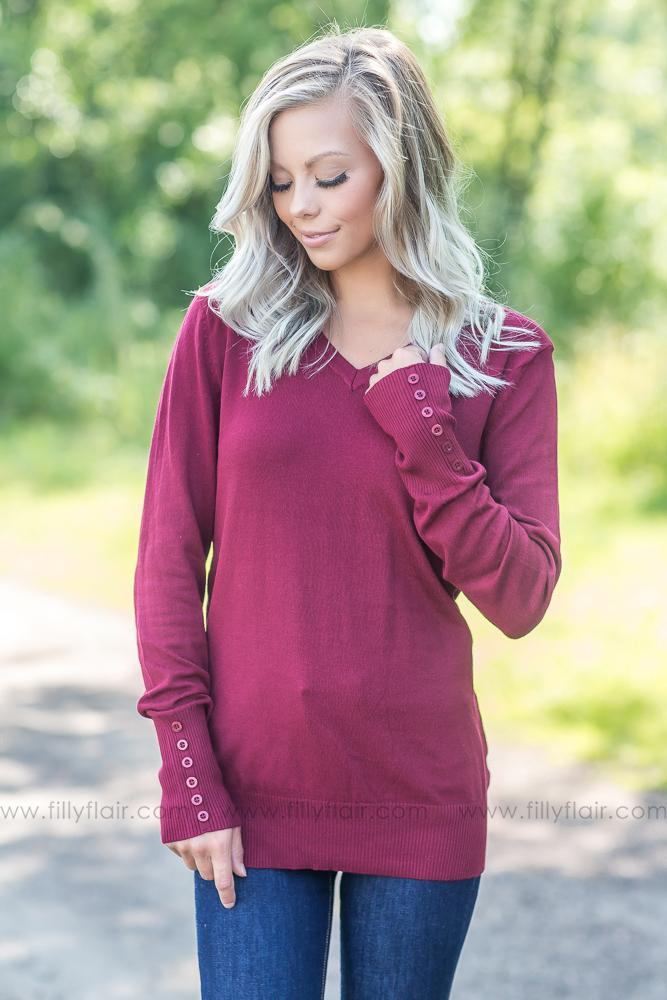 Love Like You Sweater in Maroon - Filly Flair