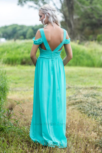 Madison Bridesmaid Dress in Mint - Filly Flair