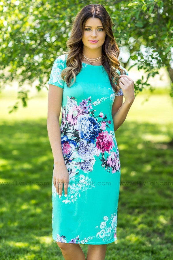 The Time of My Life Floral Midi Dress in Mint