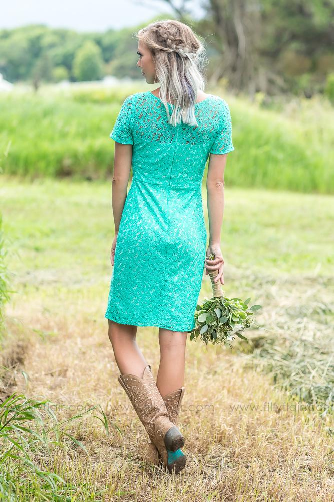 Charlotte Bridesmaid Dress in Mint - Filly Flair