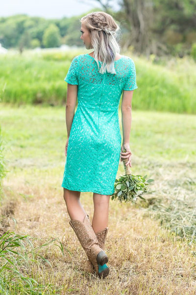 Charlotte Dress in Mint - Filly Flair