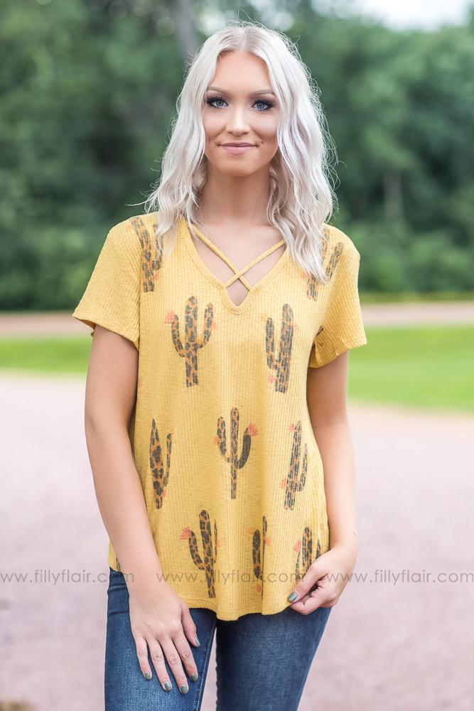 Can't Touch This Cactus T-shirt - Filly Flair