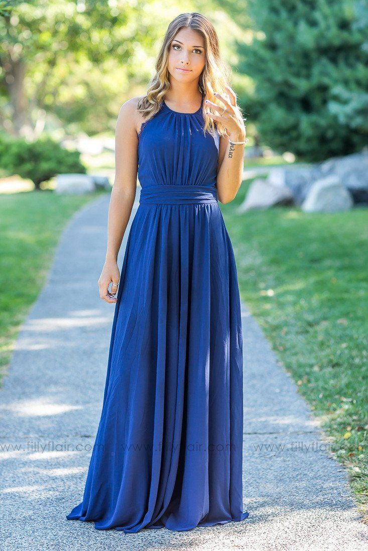 Adeline lace back bridesmaid dress in navy blue filly flair fall bridesmaid dresses navy blue bridesmaid dresses ombrellifo Gallery