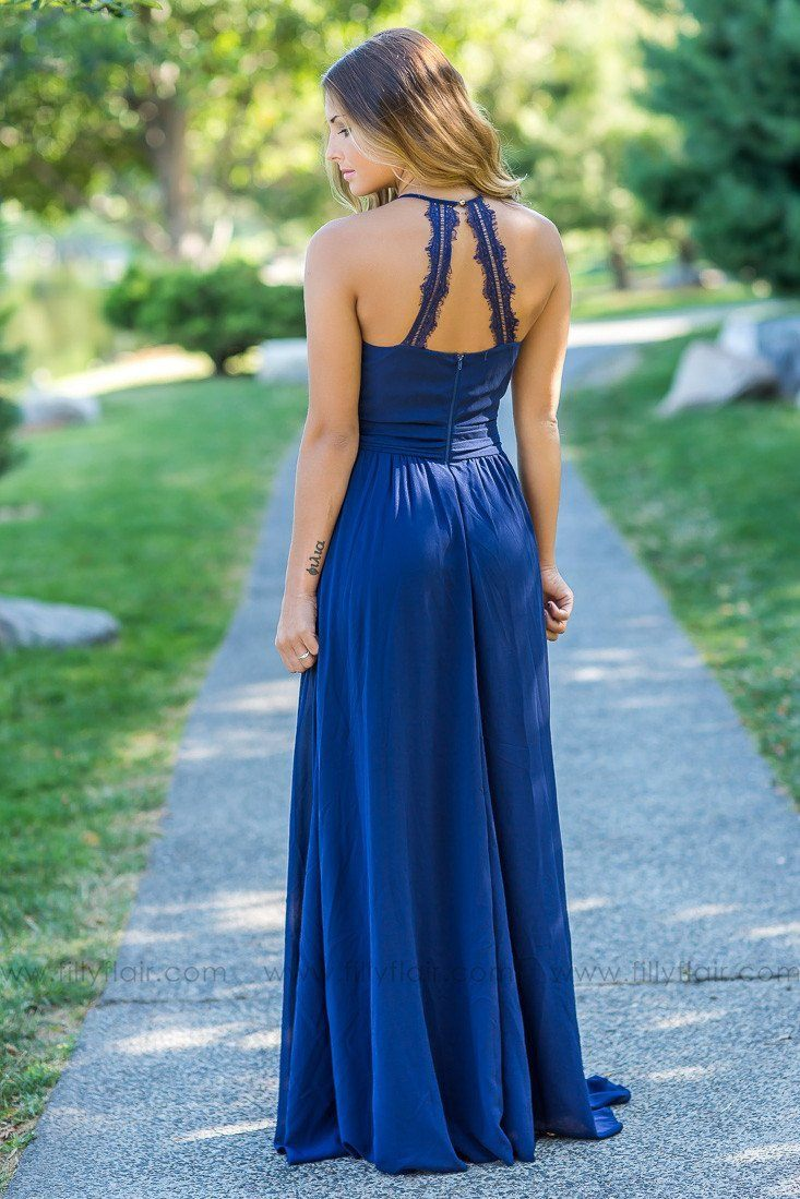 Adeline lace back bridesmaid dress in navy blue filly flair affordable bridesmaid dresses ombrellifo Choice Image