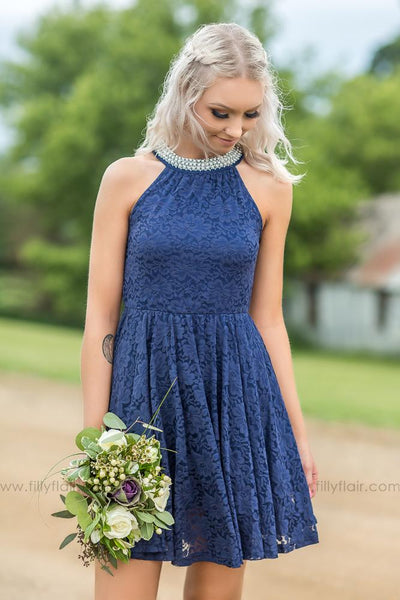 Sienna Bridesmaid Dress In Navy - Filly Flair