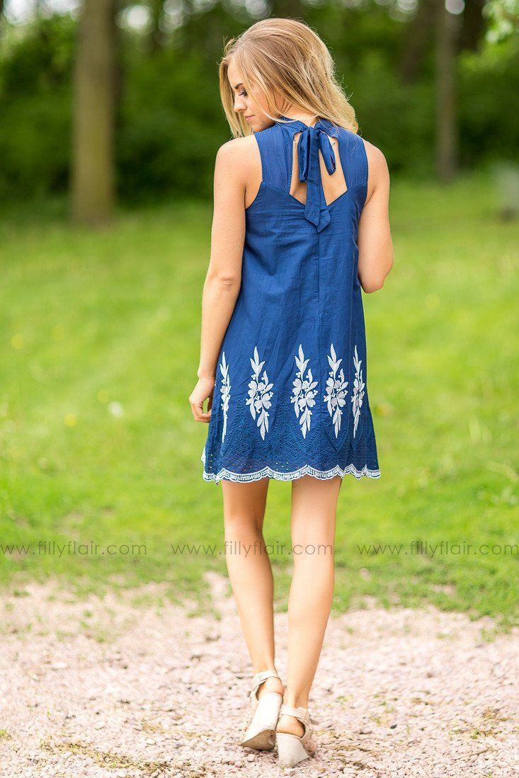 Uptown Beauty Embroidered Dress