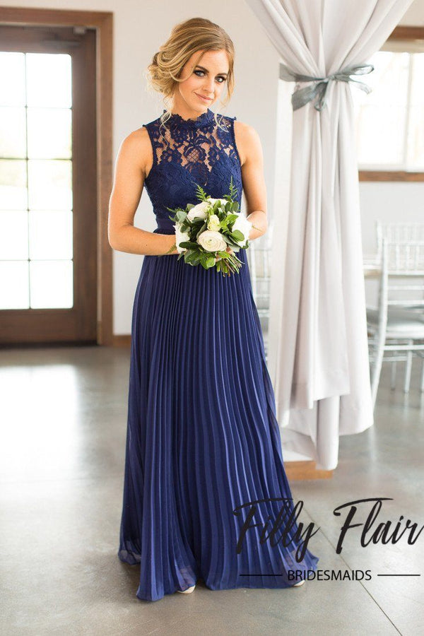 Pleated Bridesmaid Dress