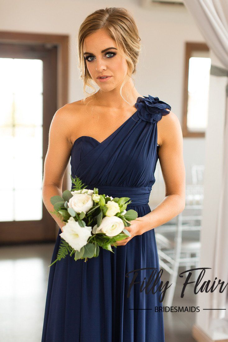 One strap bridesmaid dress