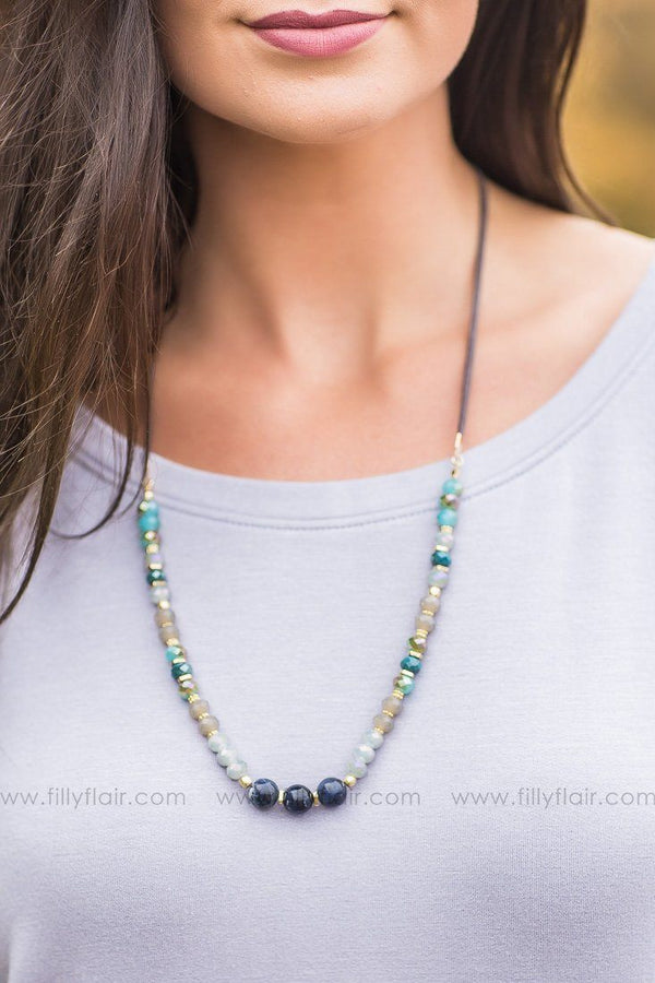 Clear Skies Beaded Necklace