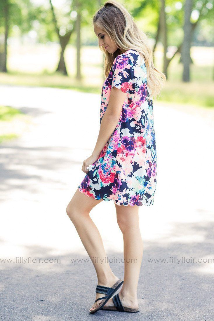 neon floral print