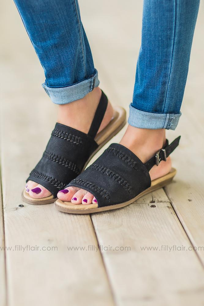 Not Rated Ophelia Sandals In Black - Filly Flair