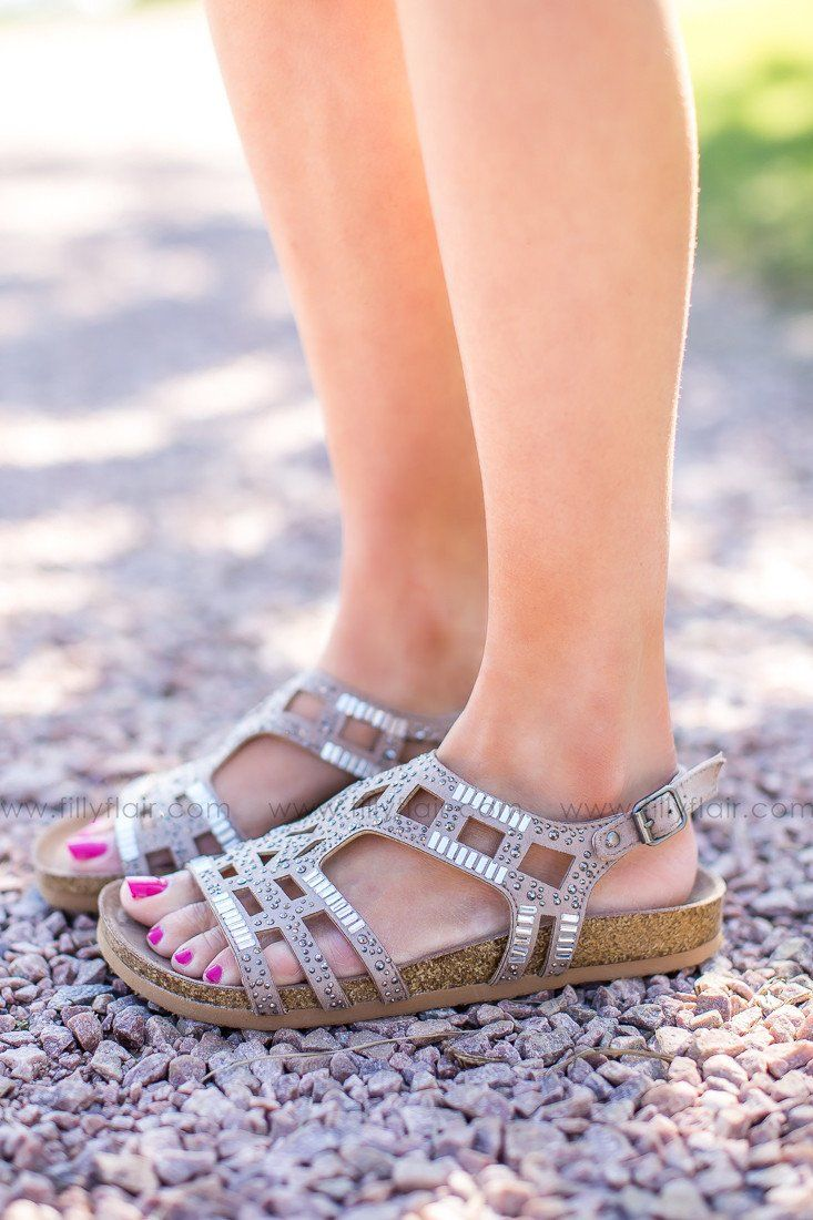 Not Rated Taupe Bushiest Sequin Sandals