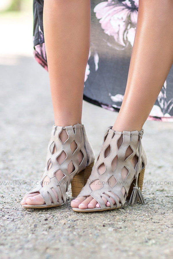 Not Rated This Weekend Taupe Booties
