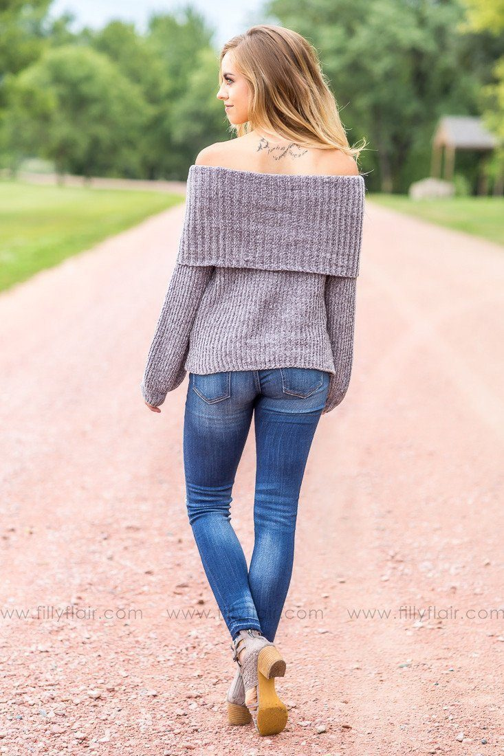 Simply Perfect Grey Rolled Neck Sweater