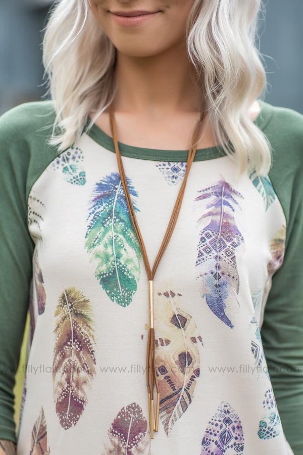 Speak To Me Brown Tassel Necklace