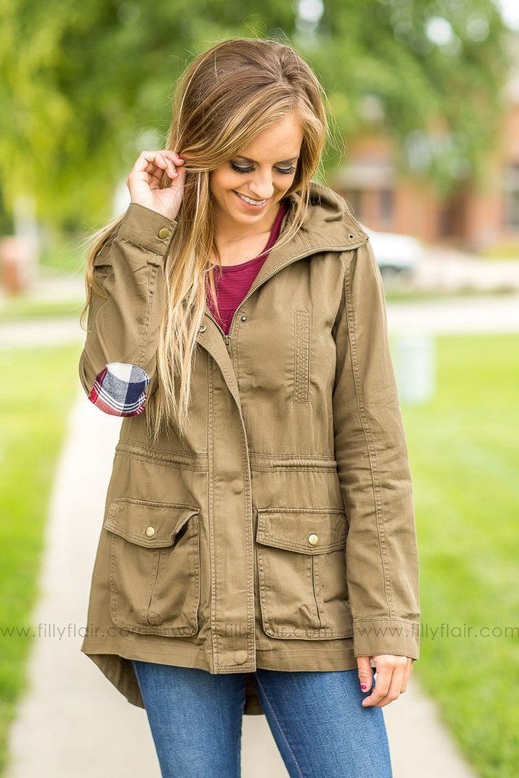 Need I Say More Olive Hooded Jacket